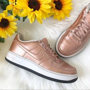 Rose Gold Nike Air Force 1 SE Low GS Youth Size 4